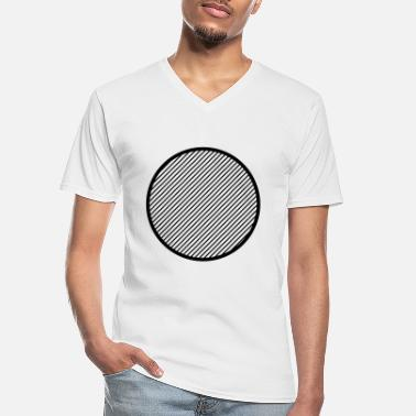 Circle Striped Circle - Men's V-Neck T-Shirt