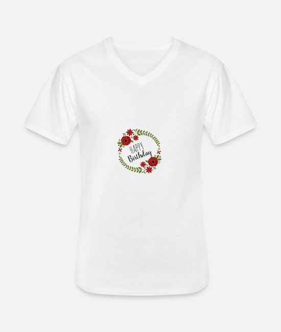 Happy T-Shirts - Happy Birthday Happy Birthday - Men's V-Neck T-Shirt white