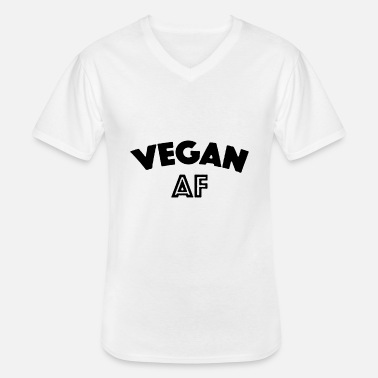Hawk Black Design Vegan Af - Men's V-Neck T-Shirt