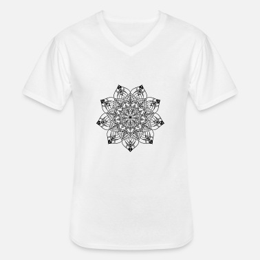 New Age New Age Golden Mandala - Klassisk T-skjorte med V-hals for menn
