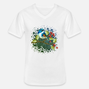 Wing Colorful bird - Men's V-Neck T-Shirt