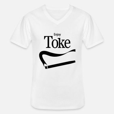 Spliff Enjoy Toke - Men's V-Neck T-Shirt
