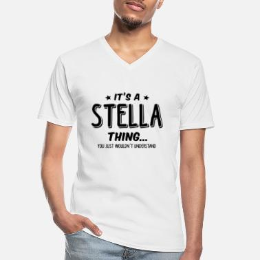 Stella stella its a name thing - Men's V-Neck T-Shirt