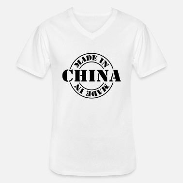 China made in china m1k2 - Klassiek mannen T-shirt met V-hals