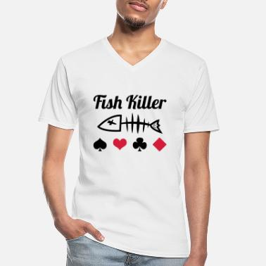 Poker Poker : Fish Killer - Klassisk T-skjorte med V-hals for menn