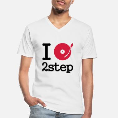 Tanzen I dj / play / listen to 2step - Men's V-Neck T-Shirt
