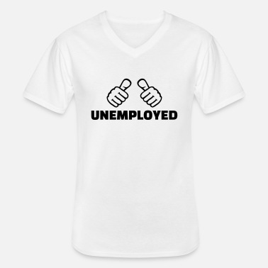 Unemployed Unemployed - Men's V-Neck T-Shirt
