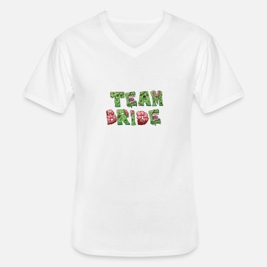 Team Zombie Team Bride Zombie - Men's V-Neck T-Shirt