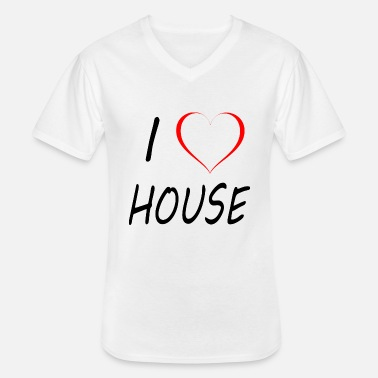 I Love House I Love House Music - Men's V-Neck T-Shirt