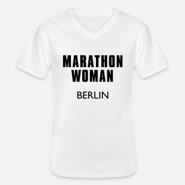 Berlin marathon_woman_berlin - Men's V-Neck T-Shirt