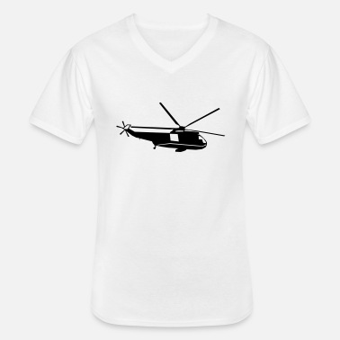 Apache helicopter kids military rc - Men's V-Neck T-Shirt