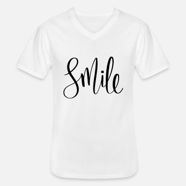 Typographie sourire - T-shirt col V Homme