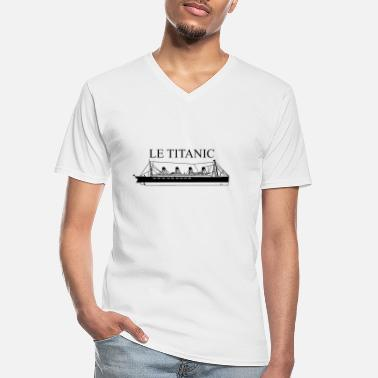Titanic ship the Titanic - Men's V-Neck T-Shirt