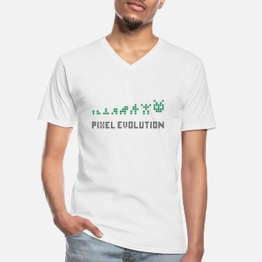 Pixel Pixel Evolution - Men's V-Neck T-Shirt