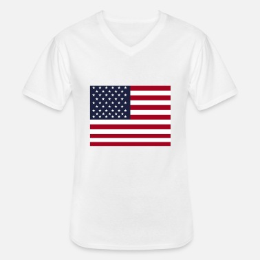 Stars And Stripes USA vlag Amerika - Klassiek mannen T-shirt met V-hals