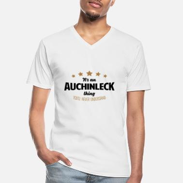 It's an auchinleck name thing stars never - Men's V-Neck T-Shirt