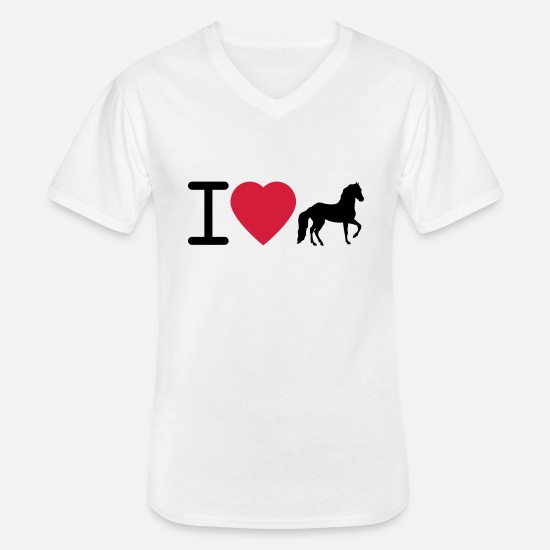 Forest T-Shirts - I Love Horses - Men's V-Neck T-Shirt white