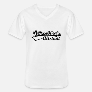 State Capital Dusseldorf Old Town district of the state capital - Men's V-Neck T-Shirt