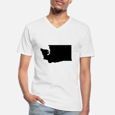 Washington Washington - T-shirt col V Homme