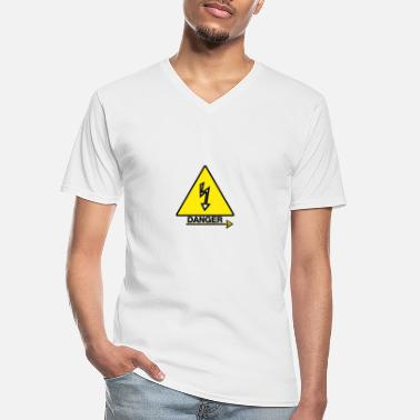 Dangerous Danger danger - Men's V-Neck T-Shirt