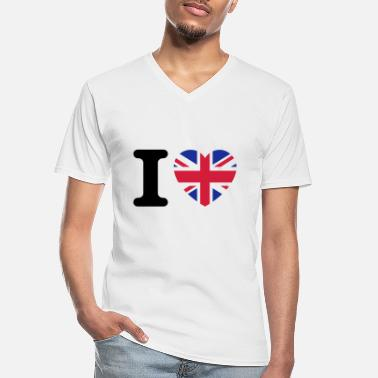 Uk I love UK - Men's V-Neck T-Shirt