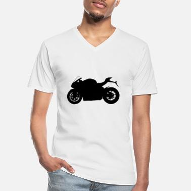 Silhouette sports bike silhouette - Men's V-Neck T-Shirt