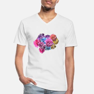 Rose Roses & Roses - Men's V-Neck T-Shirt