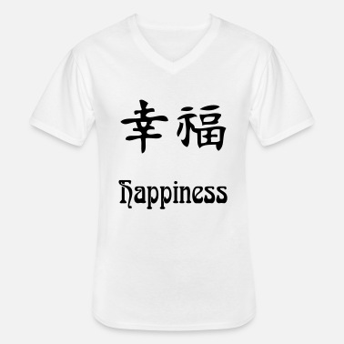 Happiness happiness - T-shirt col V Homme