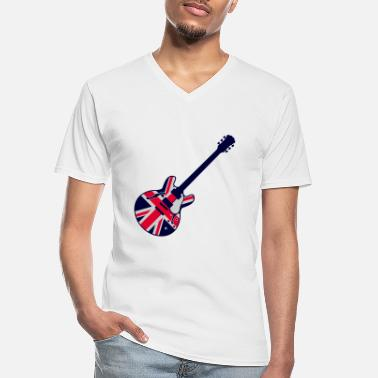 Jack union jack guitar - Men's V-Neck T-Shirt