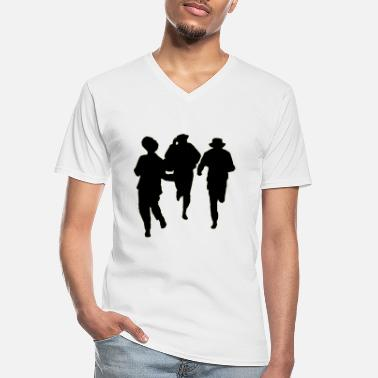 Male Dancer Dancers three male - Men's V-Neck T-Shirt