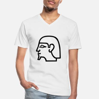 Religion hieroglyph - Men's V-Neck T-Shirt