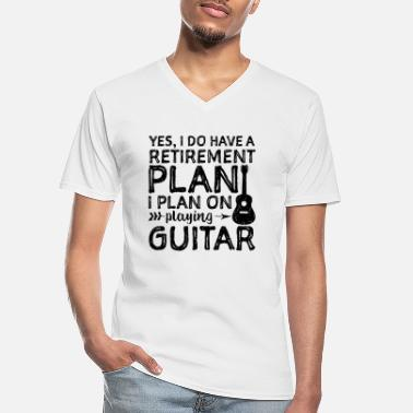 Guitarist Yes I Do Have A Retirement Plan I Plan On Playing - Men's V-Neck T-Shirt