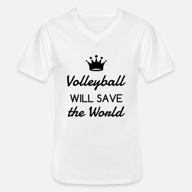 Volley Volleyball - Volley Ball - Volley-Ball - Sport - Klassisk herre T-shirt med V-udskæring