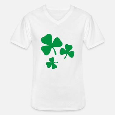 Shamrock Kleeblatt Irland Ireland Saint Sankt - Men's V-Neck T-Shirt