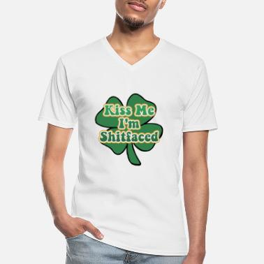 Kiss Kiss Me I'm Irish and Shitfaced - Men's V-Neck T-Shirt