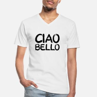 Bello ciao bello, black - Men's V-Neck T-Shirt