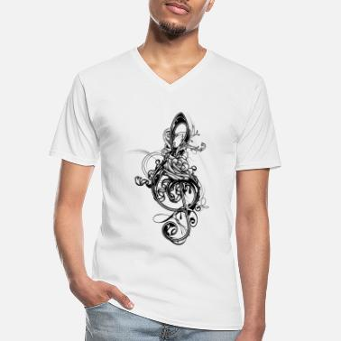 Treble Clef treble clef - Men's V-Neck T-Shirt