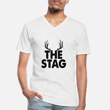 Stag The Stag - Men's V-Neck T-Shirt