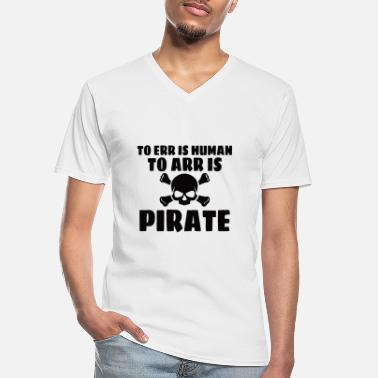 Piratenpartei PIRAAT: ERR is menselijk - Klassiek mannen T-shirt met V-hals