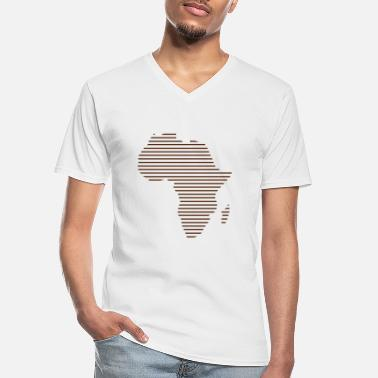 Map Africa / / Africa map / / Abstract / / lines - Men's V-Neck T-Shirt