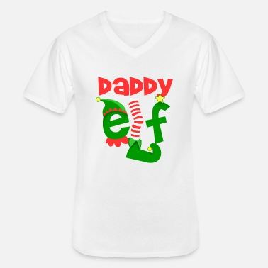 daddy elf - Men's V-Neck T-Shirt