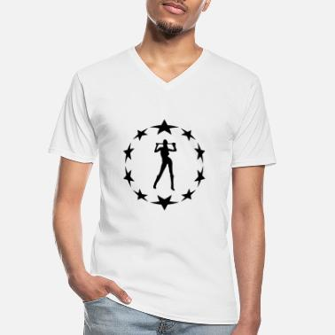 Farewell Underwear stars wreath special - Men's V-Neck T-Shirt
