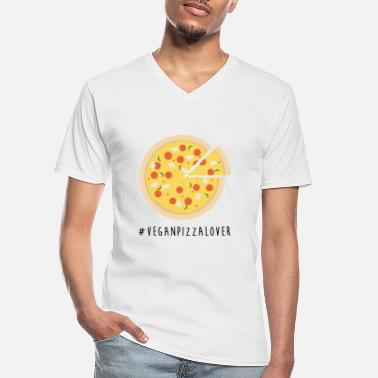 Vegan Pizza Lover - Men's V-Neck T-Shirt