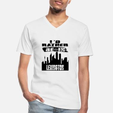 Lexington Geschenk Id rather be in Lexington - Männer-T-Shirt mit V-Ausschnitt