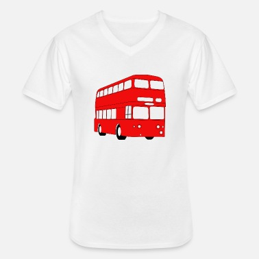Sbahn school bus coach omnibus school bus verkehr2 - Men's V-Neck T-Shirt
