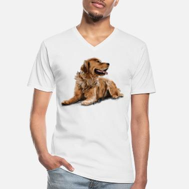 Golden Retriever Golden Retriever - Camiseta con cuello de pico hombre