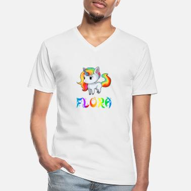 Flora Unicorn flora - Men's V-Neck T-Shirt