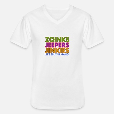 Jeeper Zoinks Jeepers Jinkies! Let's split up gang! - Men's V-Neck T-Shirt
