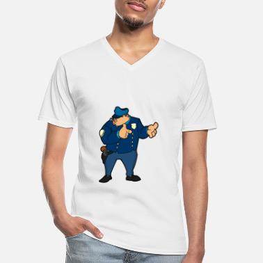 Policeman Policeman - Men's V-Neck T-Shirt