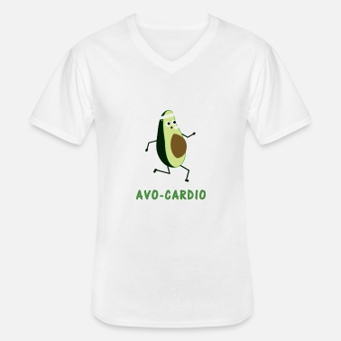 Workout Avocardio workout cardio workout gave - Klassisk herre T-shirt med V-udskæring